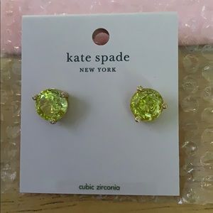 Kate Spade RISE AND SHINE Mint Studs.